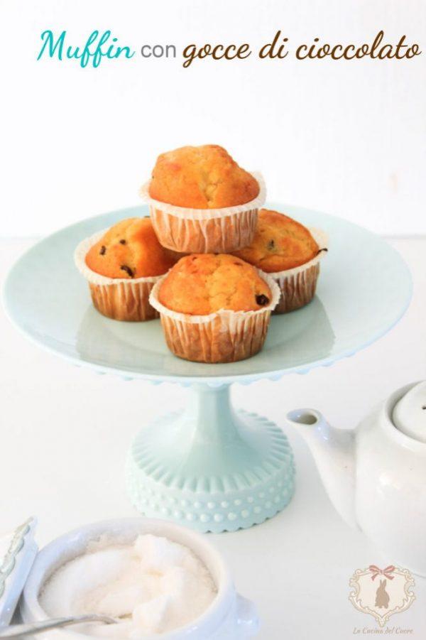 muffin con gocce di cioccolato procedimento