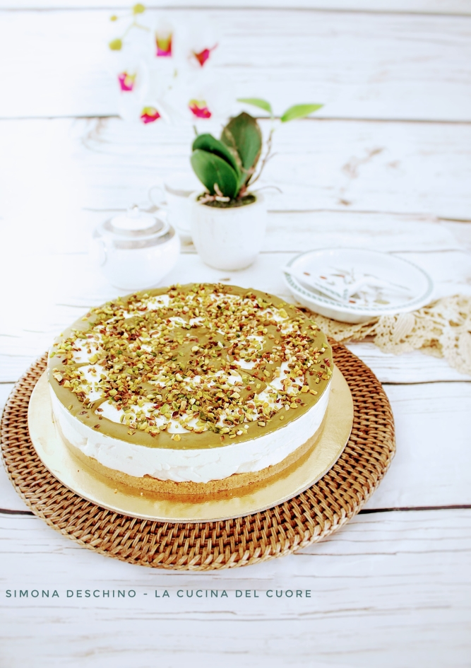 procedimento per cheesecake al pistacchio