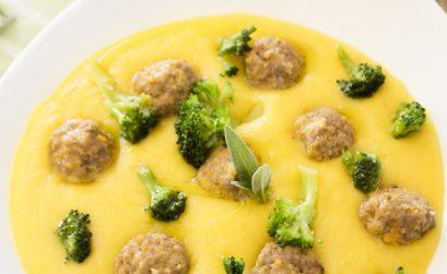 procedimento crema di patate, polpettine e broccoli