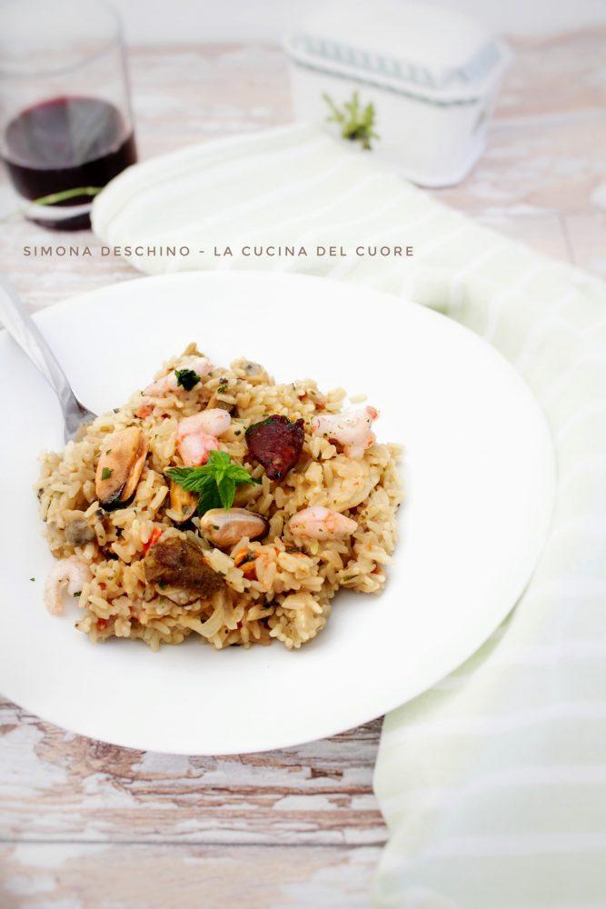 ricetta del risotto mare e monti