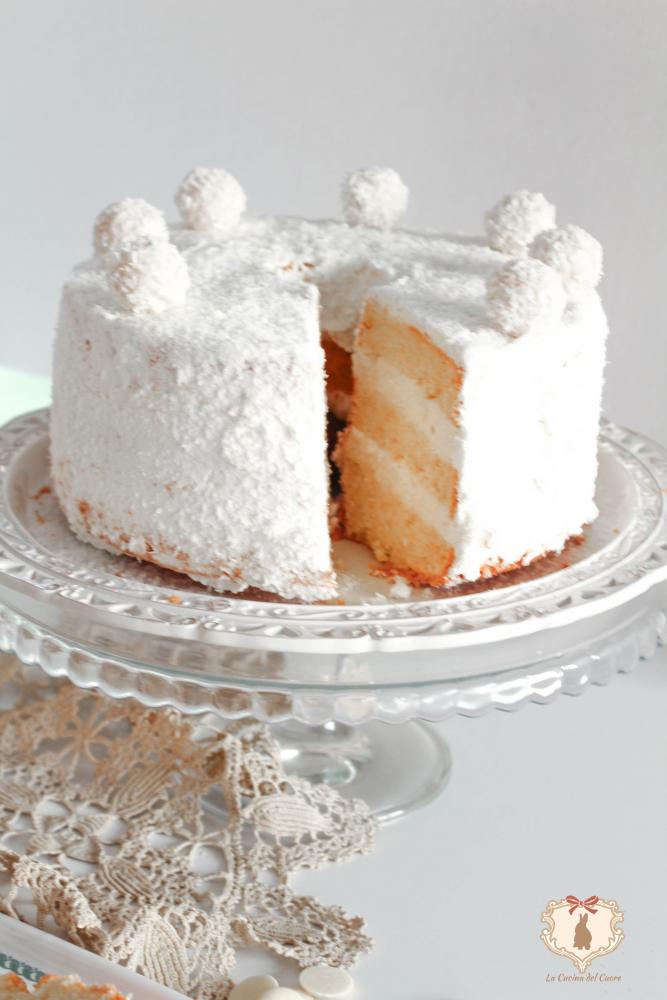 prepariamo la chiffon cake al raffaello