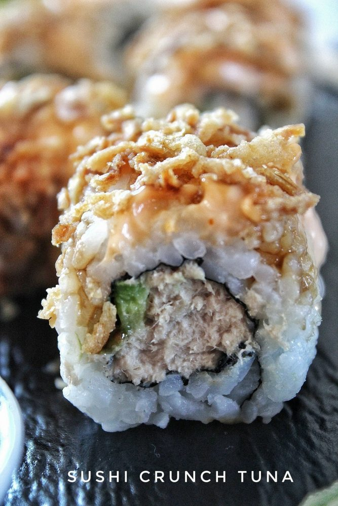 come preparare il sushi tuna crunch