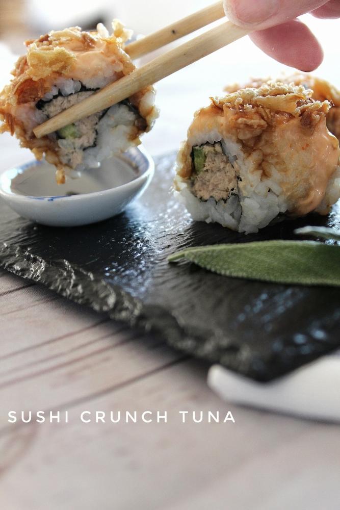 sushi tuna crunch ricetta