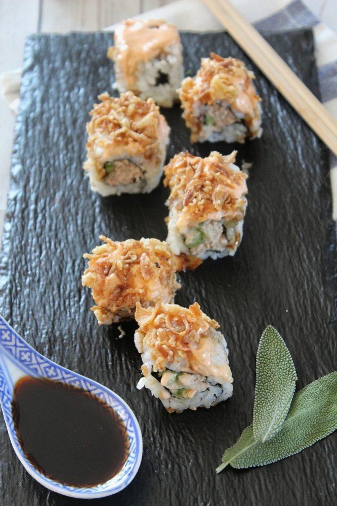procedimento per il sushi tuna crunch