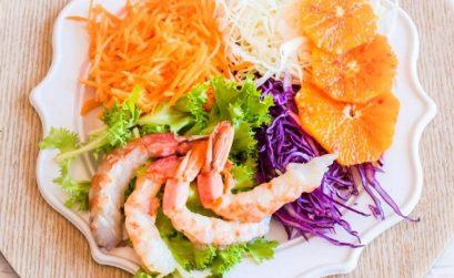 insalata estiva con gamberi e finocchi