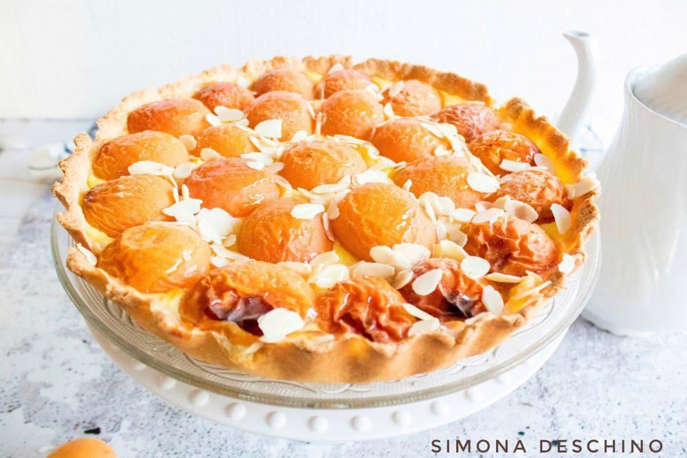 Crostata della nonna di albicocche senza zucchero