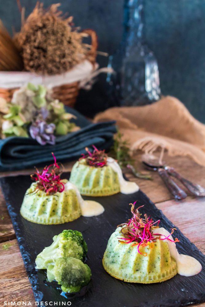 flan di broccoli e zucchine ricetta e procedimento