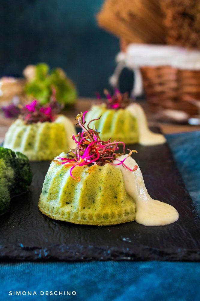 flan di broccoli e zucchine