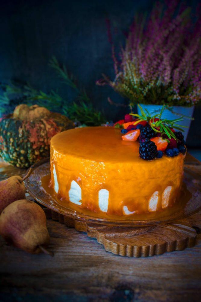 Procedimento per la torta di carote e noci