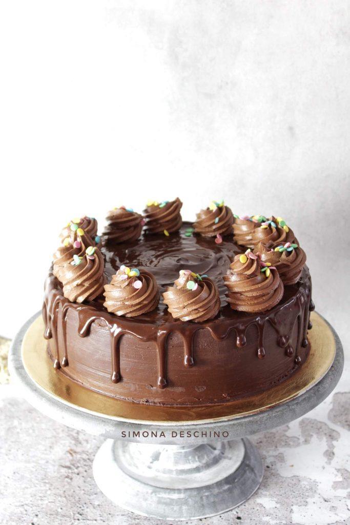 Torta umida al cioccolato senza burro